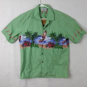 Various Shirts - Surfing Santa Hawaiian Camp Shirt Lot of 3
